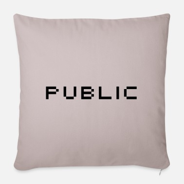Public Public - Pillowcase 17,3'' x 17,3'' (45 x 45 cm)