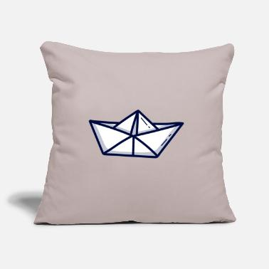 Paper Paper ship paper boat - Pillowcase 17,3'' x 17,3'' (45 x 45 cm)