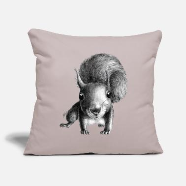Squirrel curious squirrel - Pillowcase 17,3'' x 17,3'' (45 x 45 cm)