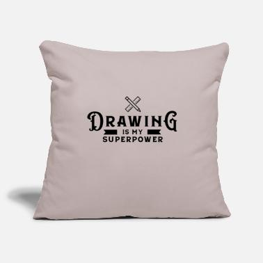 Drawing Drawing Drawing Draftsman drawing drawing - Pillowcase 17,3'' x 17,3'' (45 x 45 cm)