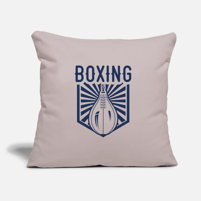 Boxing Gloves Pillow Cases - Boxer Boxer Boxer Boxer - Pillowcase 17,3'' x 17,3'' (45 x 45 cm) light grey