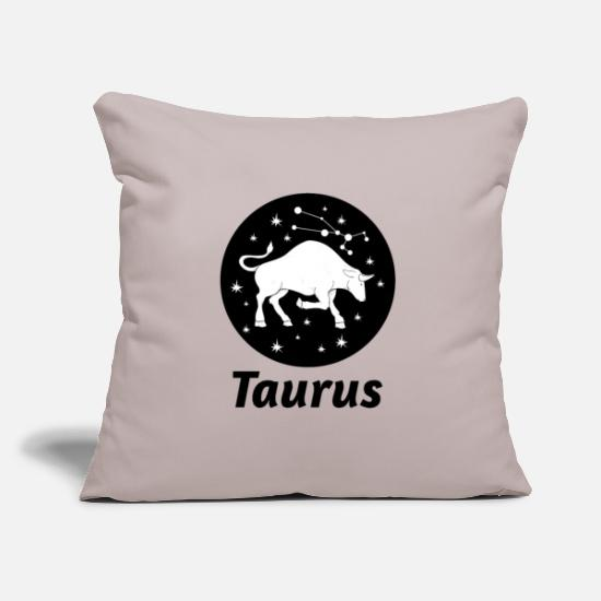 Horoscope Pillow Cases - Taurus zodiac horoscope astronomy astrology - Pillowcase 17,3'' x 17,3'' (45 x 45 cm) light grey