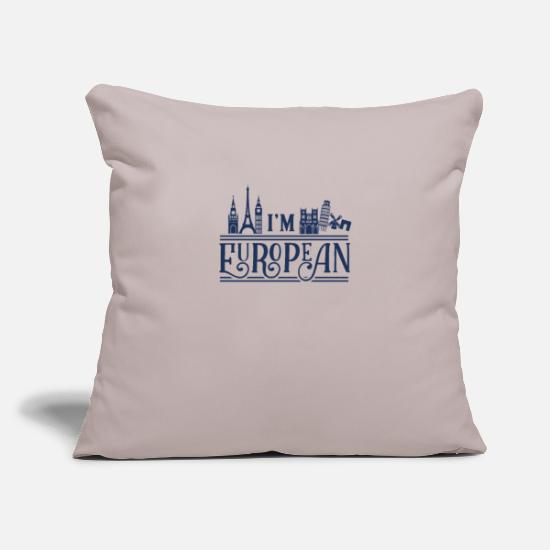 Eu Pillow Cases - European Europe European Union Europe EU - Pillowcase 17,3'' x 17,3'' (45 x 45 cm) light grey