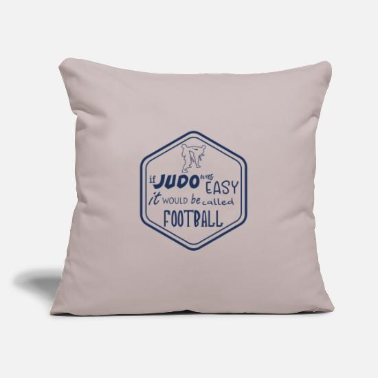 Judo Pillow Cases - Judo fight - Pillowcase 17,3'' x 17,3'' (45 x 45 cm) light taupe