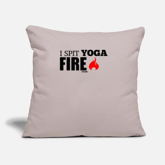 Ghost Pillow Cases - Yoga fire meditation - Pillowcase 17,3'' x 17,3'' (45 x 45 cm) light taupe