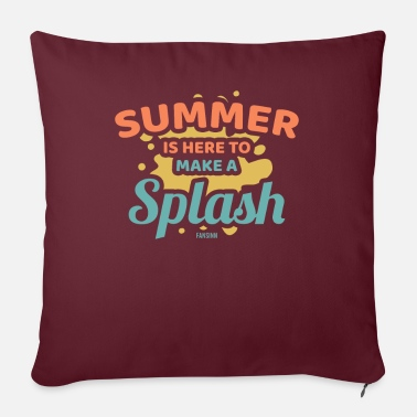 Swim Summer sun vacation sea beach gift - Pillowcase 17,3'' x 17,3'' (45 x 45 cm)