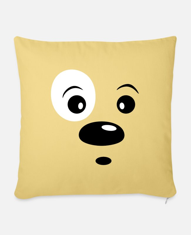 Sweet Dog Pillow Cases - Doggy - Pillowcase 17,3'' x 17,3'' (45 x 45 cm) washed yellow