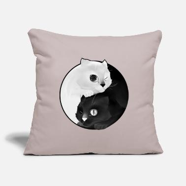 Animal Collection Yin Yang kitten - Pillowcase 17,3'' x 17,3'' (45 x 45 cm)