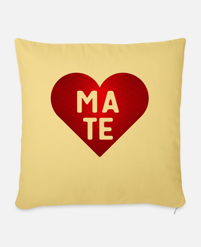 Mateo Pillow Cases - Soulmate Mate - Pillowcase 17,3'' x 17,3'' (45 x 45 cm) washed yellow