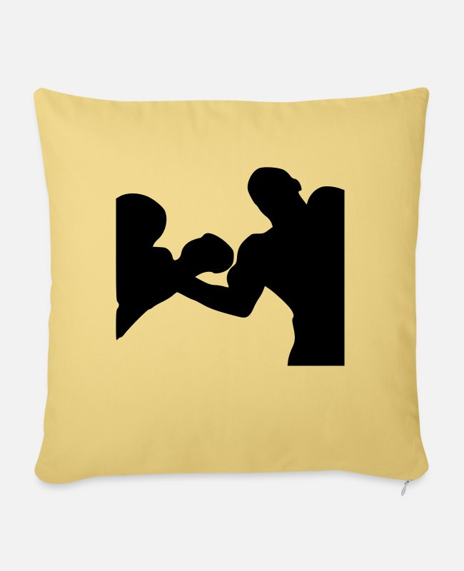 Training Pillow Cases - boxer - Pillowcase 17,3'' x 17,3'' (45 x 45 cm) washed yellow