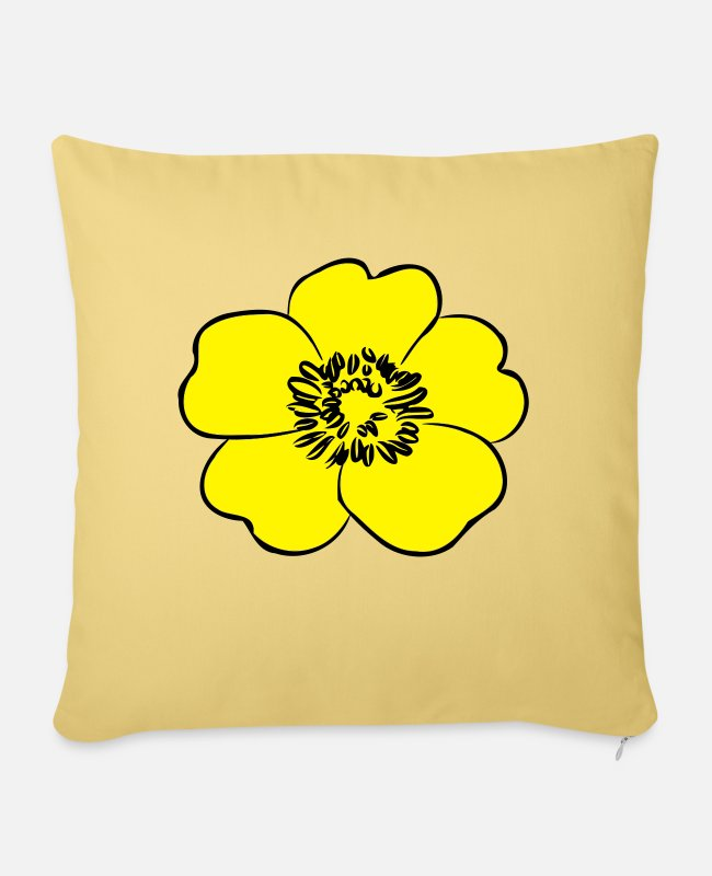 Pretty Pretty Pillow Cases - Buttercup yellow - Pillowcase 17,3'' x 17,3'' (45 x 45 cm) washed yellow