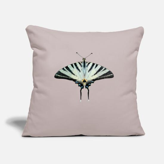 Butterfly Pillow Cases - Butterfly, butterfly - Pillowcase 17,3'' x 17,3'' (45 x 45 cm) light grey
