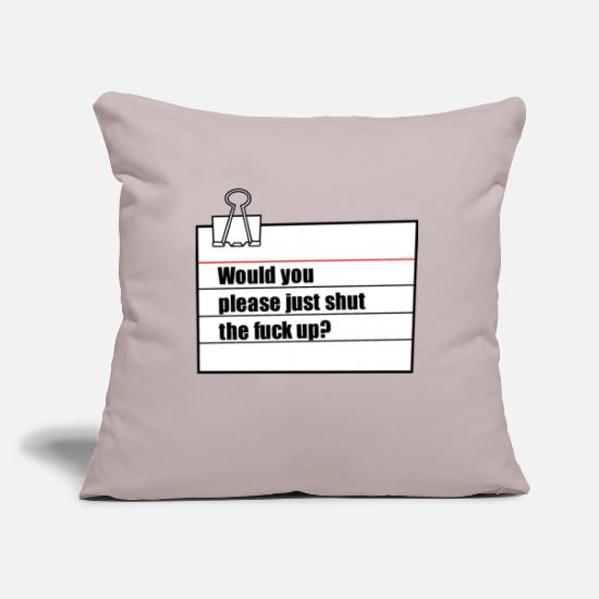 Cool Sayings Pillow Cases - note - Pillowcase 17,3'' x 17,3'' (45 x 45 cm) light taupe