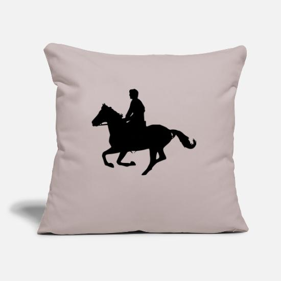 Horse Pillow Cases - galloping horse - Pillowcase 17,3'' x 17,3'' (45 x 45 cm) light grey