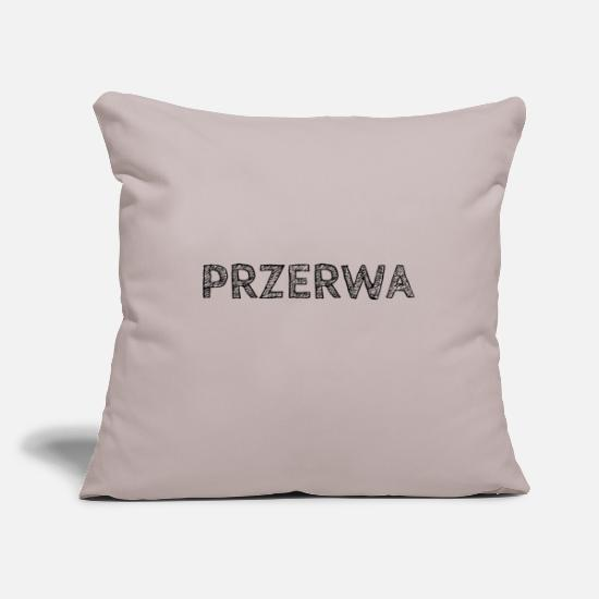 Gift Idea Pillow Cases - BREAK - Pillowcase 17,3'' x 17,3'' (45 x 45 cm) light taupe