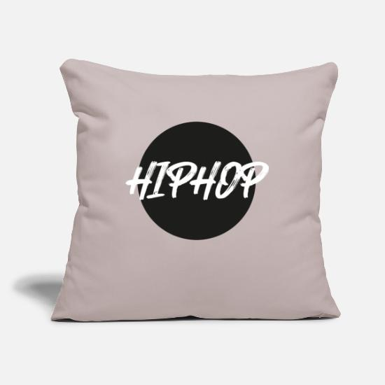 Rap Pillow Cases - Hip Hop rap rappers - Pillowcase 17,3'' x 17,3'' (45 x 45 cm) light grey