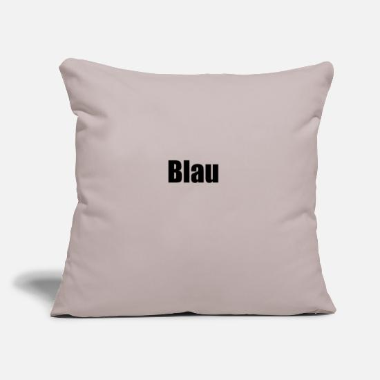 Blue Pillow Cases - blue - Pillowcase 17,3'' x 17,3'' (45 x 45 cm) light grey