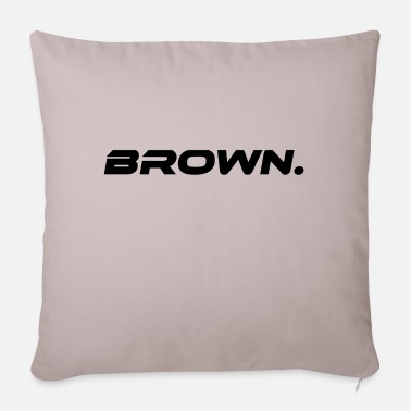 Brown Brown Brown Color Statement - Pillowcase 17,3'' x 17,3'' (45 x 45 cm)
