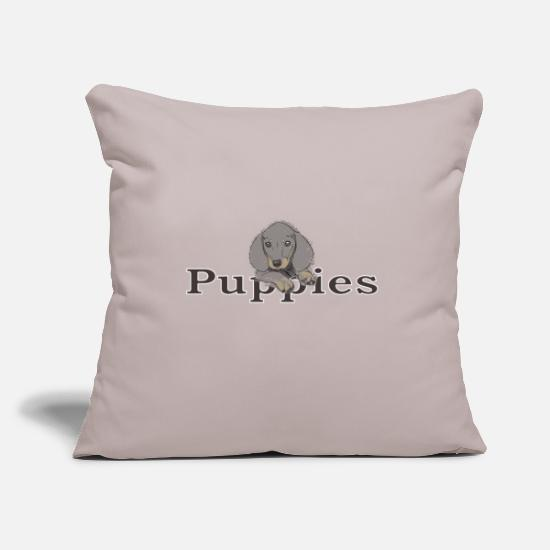 Small Pillow Cases - puppies - Pillowcase 17,3'' x 17,3'' (45 x 45 cm) light grey