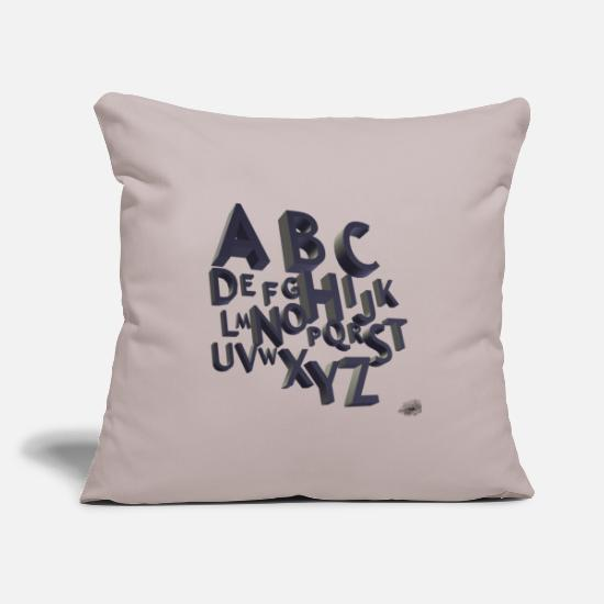Abc Pillow Cases - ABC - Pillowcase 17,3'' x 17,3'' (45 x 45 cm) light grey