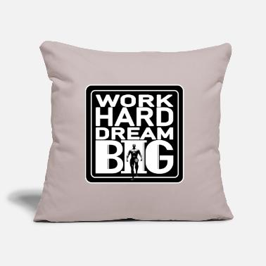 work hard dream big for men - Pillowcase 17,3'' x 17,3'' (45 x 45 cm)