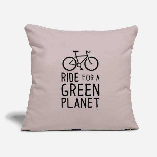 Birthday Pillow Cases - Ride for a Green Planet Bicycle Environmental Protection - Pillowcase 17,3'' x 17,3'' (45 x 45 cm) light taupe