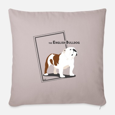 Ixco the English Bulldog by IxCO - Pillowcase 17,3'' x 17,3'' (45 x 45 cm)
