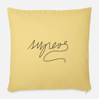 Fonts font - Pillowcase 17,3'' x 17,3'' (45 x 45 cm)