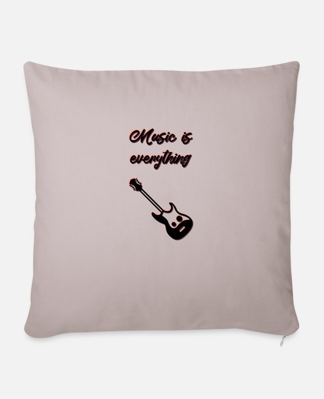 Rap Pillow Cases - music - Pillowcase 17,3'' x 17,3'' (45 x 45 cm) light taupe