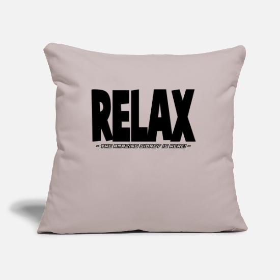Sidney Pillow Cases - relax the amazing sidney is here - Pillowcase 17,3'' x 17,3'' (45 x 45 cm) light grey