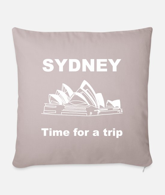 Drawing Pillow Cases - Sydney Opera House - Pillowcase 17,3'' x 17,3'' (45 x 45 cm) light taupe