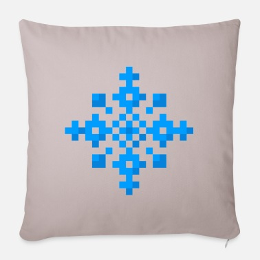 Art Snowflake (pixel art) - Pillowcase 17,3'' x 17,3'' (45 x 45 cm)