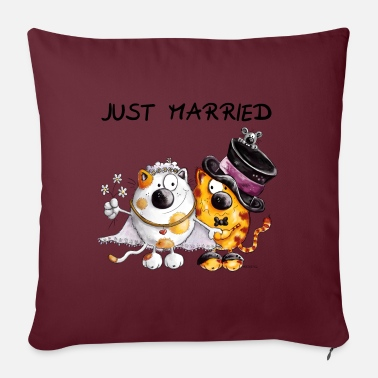 Wedding Just Married - Pillowcase 17,3'' x 17,3'' (45 x 45 cm)