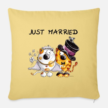 Wedding Just Married - Pillowcase 17,3'' x 17,3'' (45 x 45 cm)