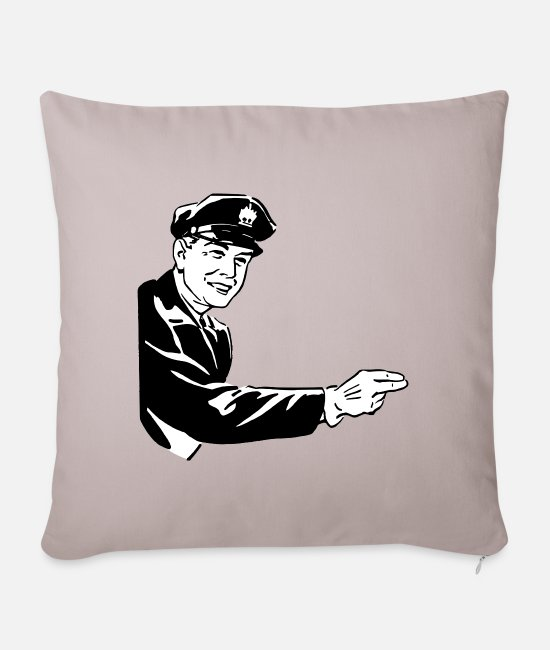Gang Pillow Cases - Policeman - Pillowcase 17,3'' x 17,3'' (45 x 45 cm) light taupe
