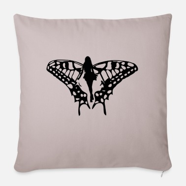 Black elf with big wings - Pillowcase 17,3'' x 17,3'' (45 x 45 cm)