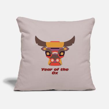 Years Year of the Ox - Year of the Ox - Pillowcase 17,3'' x 17,3'' (45 x 45 cm)