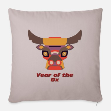Year Year of the Ox - Year of the Ox - Pillowcase 17,3'' x 17,3'' (45 x 45 cm)