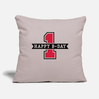 Number happy_bday_1f2 - Pillowcase 17,3'' x 17,3'' (45 x 45 cm)