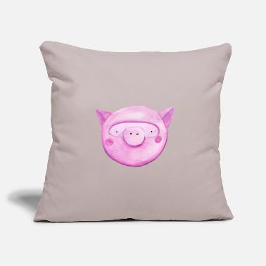 pig head - Pillowcase 17,3'' x 17,3'' (45 x 45 cm)