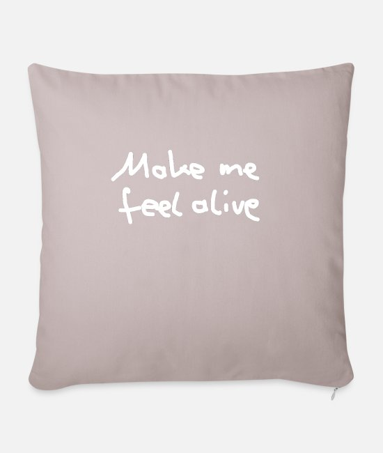 Feeling Pillow Cases - Alive - Pillowcase 17,3'' x 17,3'' (45 x 45 cm) light taupe