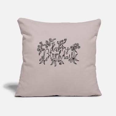 Happy Birthday Happy Birthday - lettrage artistique - Housse de coussin