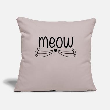 meow - Sofa pillowcase 17,3'' x 17,3'' (45 x 45 cm)