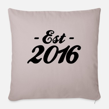 Established established 2016 - Housse de coussin