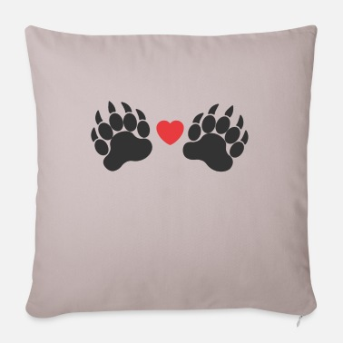 Paw Paws paws - Pillowcase 17,3'' x 17,3'' (45 x 45 cm)