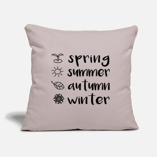 Spring Pillow Cases - Seasons - Pillowcase 17,3'' x 17,3'' (45 x 45 cm) light grey