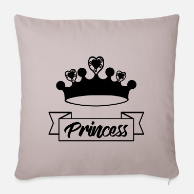 Princess Princess princess crown - Pillowcase 17,3'' x 17,3'' (45 x 45 cm)