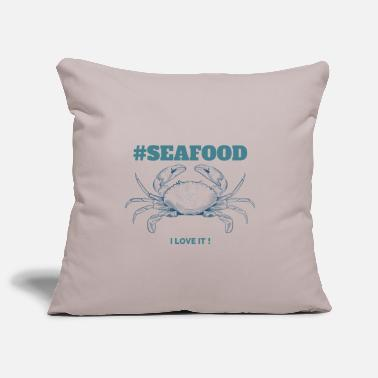 Seafood #Seafood - Pillowcase 17,3'' x 17,3'' (45 x 45 cm)