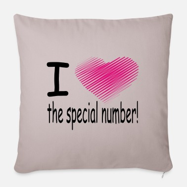 Macho i love the special number - Housse de coussin