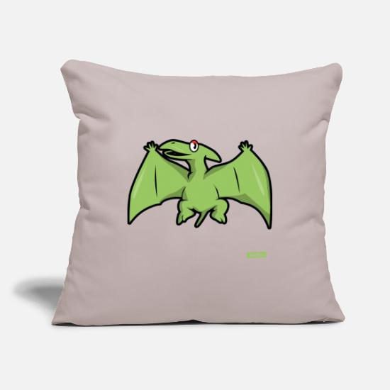 Rex Pillow Cases - Pteranodon Dinosaurier HARIZ Dinosaurier Jungen Sü - Pillowcase 17,3'' x 17,3'' (45 x 45 cm) light taupe